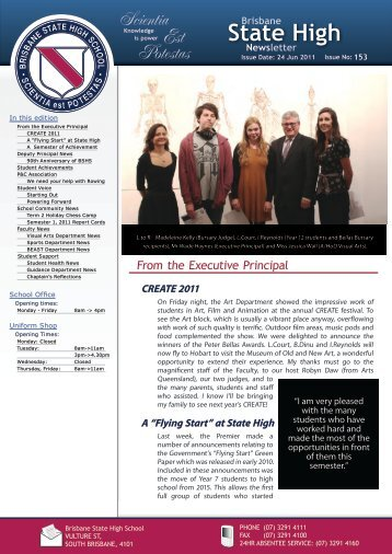 Newsletters Issue - Brisbane State High School