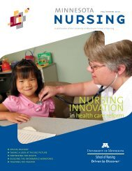 Minnesota Nursing magazine, Fall/Winter 2010 - School of Nursing ...