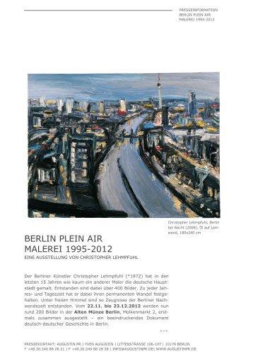 BERLIN PLEIN AIR MALEREI 1995-2012 - AugustinPR