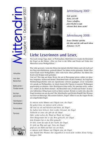 Liebe Leserinnen und Leser,  - Stiftung Scheuern