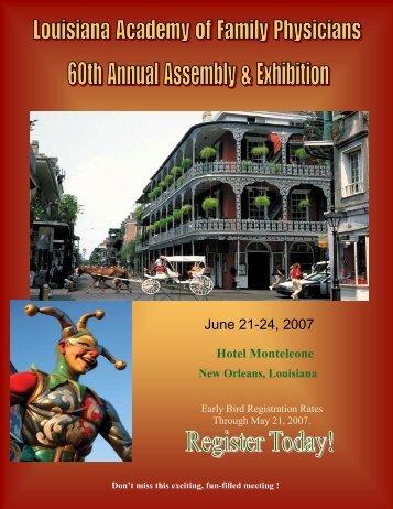 June 21-24, 2007 - Louisiana Academy of Family Physicians