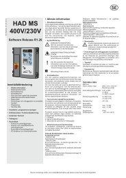 HAD 400 Manual installation, drift och kontrollbok - Novoferm