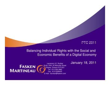 PTC 2011 Balancing Individual Rights with the Social and Economic ...