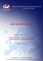 Néhány gondolat a magyar egészségügy reformjához