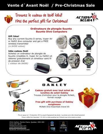 Trouvez le cadeau de Noël idéal! Find the perfect gift ... - Action Scuba