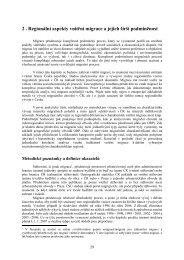 2 . Regionální aspekty vnitřní migrace a jejich širší podmíněnost