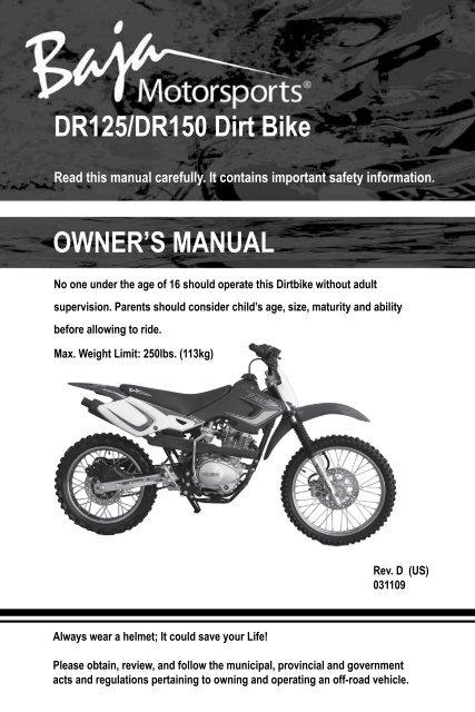 Baja 125cc Dirt Bike on