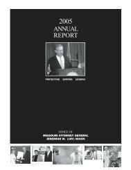 2005 Annual Report of the Missouri Attorney General