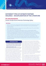Different types of intimate partner violence - Australian Domestic and ...