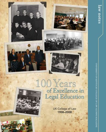 law notes - University of Kentucky College of Law