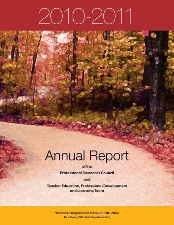 2010-2011 Annual Report - Teacher Education, Professional ...