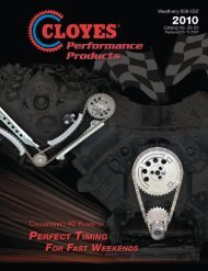 Download Catalog PDF File - Cloyes Gears and Products