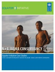 N≠A JAQNA CONSERVANCY - The GEF Small Grants Programme