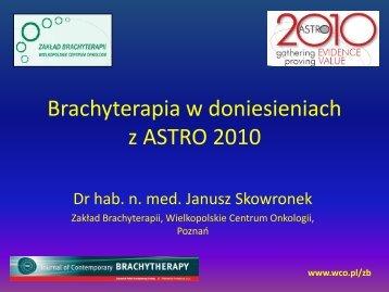 by the patient - Wielkopolskie Centrum Onkologii