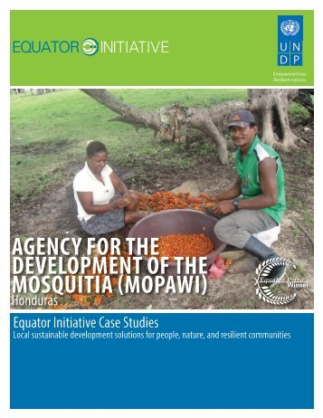 agency for the development of the mosquitia ... - Equator Initiative