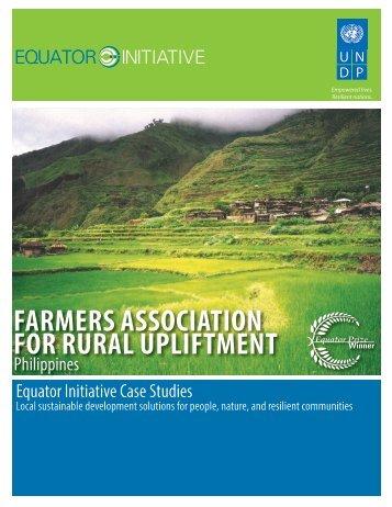 Farmers Association for Rural Upliftment (FARU) - Equator Initiative