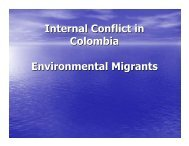 Internal Conflict in Colombia Environmental ... - Equator Initiative