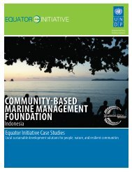 Community-Based Marine Management Foundation - UNDP