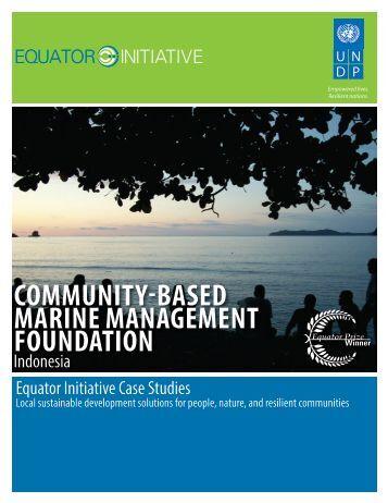 Community-Based Marine Management Foundation - UNDP