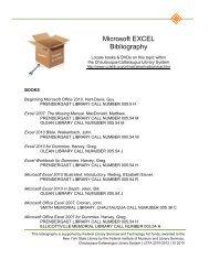 Microsoft EXCEL Bibliography - Chautauqua-Cattaraugus Library ...