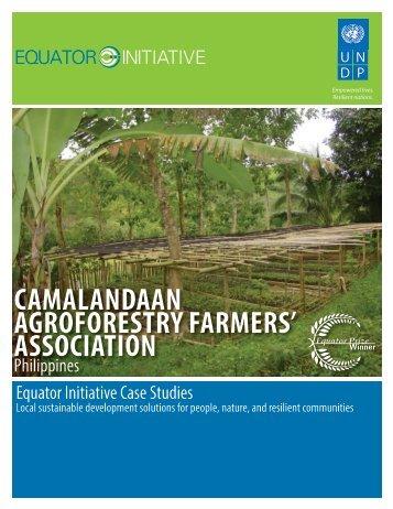 camalandaan agroforestry farmers' association - Equator Initiative