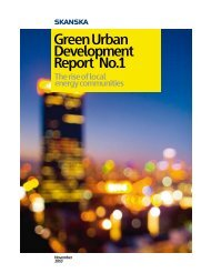 Green Urban Development Report No.1 - Skanska