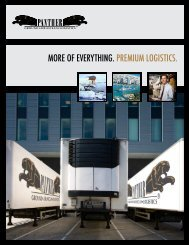 more of everything. premium logistics. - Panther Expedited Services