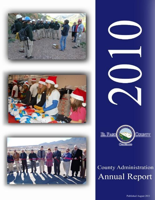 Published August 2011 - Administration Home - El Paso County