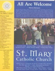 June 3, 2012 - St. Mary Catholic Church
