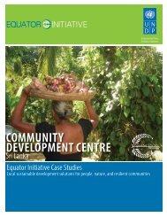 Community Development Centre, Sri Lanka - Equator Initiative