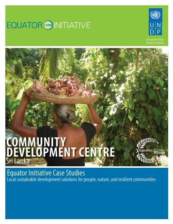 Community Development Centre, Sri Lanka - Equator Initiative