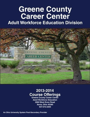 Adult Workforce 2013-2014 Course Catalog - Greene County ...