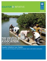 try oyster women's association - The GEF Small Grants Programme