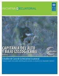 CAPITANÍA DEL ALTO Y BAJO IZOZOG (CABI) - Equator Initiative