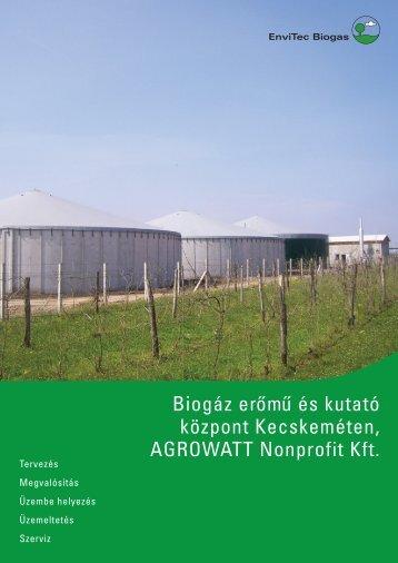 Factsheet Agrowatt - EnviTec Biogas South East Europe