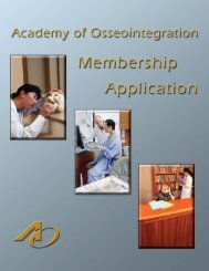 Untitled - Academy of Osseointegration