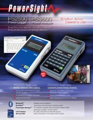 PS2500 features PS3500 features - AYA Instruments