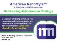 Self-Healing Anticorrosion Coatings - NST Center