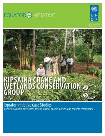 kipsaina crane and wetlands conservation group - Equator Initiative