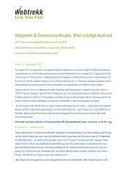 Webtrekk-Meldung zur E-Commerce-Studie anzeigen