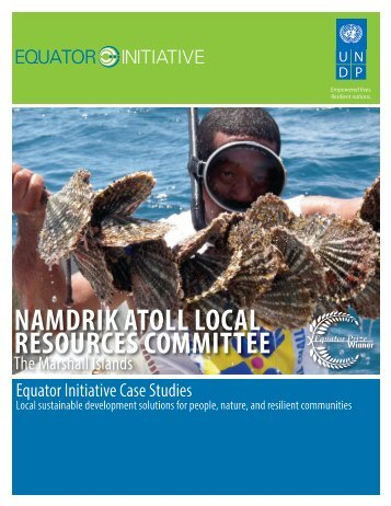 namdrik atoll local resources committee - The GEF Small Grants ...