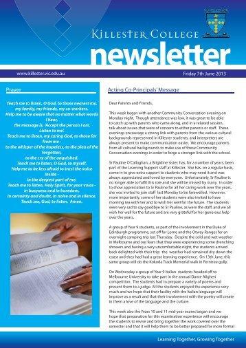 newsletter - Killester College
