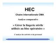 « Gérer la lingerie stérile utilisée au bloc opératoire » - HEC Montréal