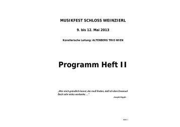 Programmheft Musikfest Schloss Weinzierl 2013 pt2 (pdf)