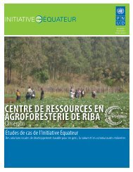 CENTRE DE RESSOURCES EN ... - Equator Initiative
