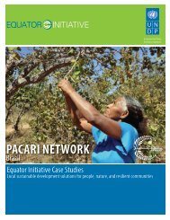 pacari network - The GEF Small Grants Programme - United Nations ...