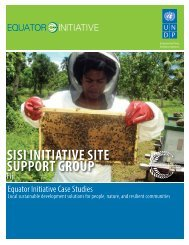 sisi initiative site support group - The GEF Small Grants Programme