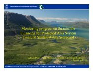 Financial Sustainability Scorecard - Equator Initiative