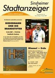 Sinsheimer Stadtanzeigers - Nussbaum Medien