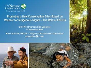 Gina Cosentino's presentation - Equator Initiative